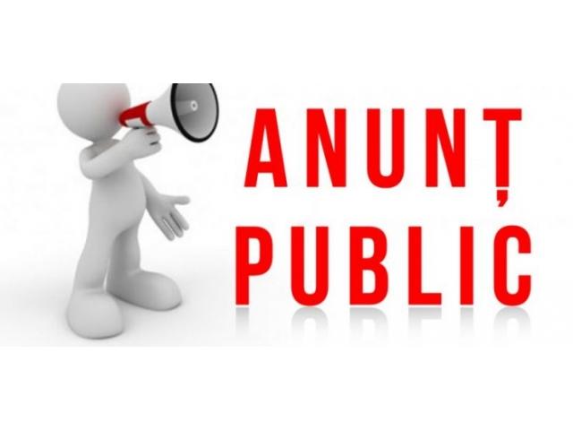 Informare privind restricţionarea activităţii de lucru cu publicul la Primăria comunei Bârsănești