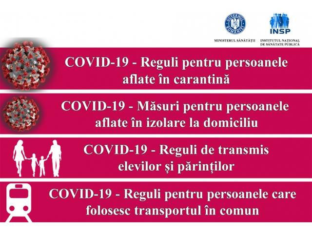 Informare corectă a populației privind infecția cu coronavirus COVID-19